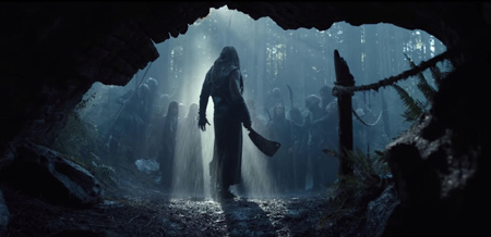 SEE trailer image of Jason Mamoa with a Cleaver.
