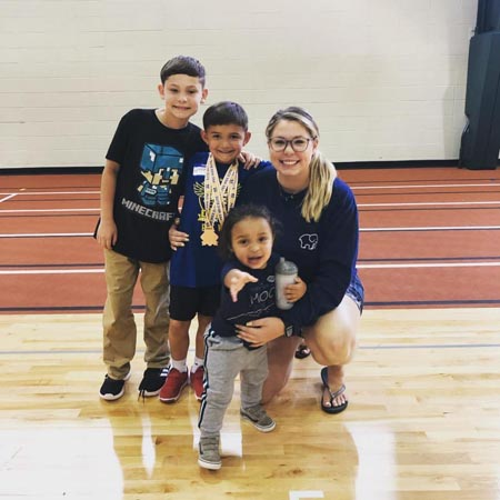 Kailyn Lowry with her three kids.