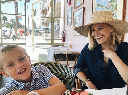 Reese Witherspoon with her son Tennessee.