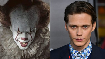 Bill Skarsgard's portrayal of Pennywise in IT.