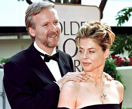 James Cameron and Linda Hamilton.