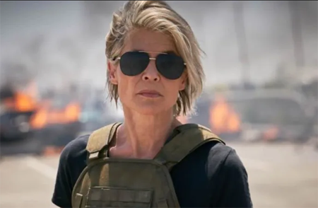 Linda Hamilton in Terminator: Dark Fate.