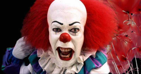 Tim Curry's portrayal of Pennywise.