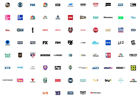 List of all the channels available on YouTube TV.