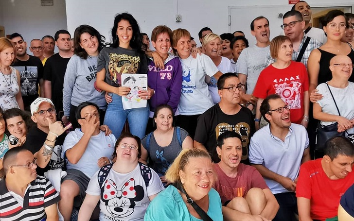 Georgina Rodriguez Brings Smiles On The Faces Of The Intellectually Disabled At The 'Fundación Esfera' While At Madrid