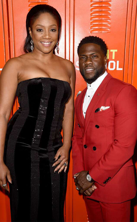 Tiffany Haddish and Kevin Hart