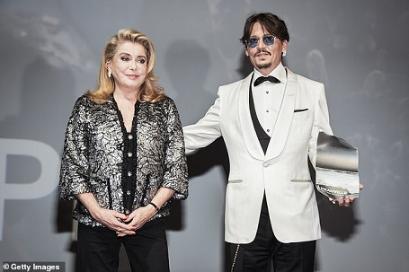 The Legendary Catherine Deneuve presented Depp with the Career Honor.
