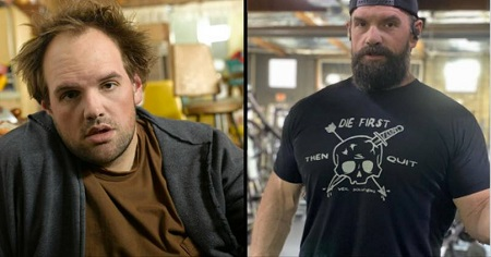 Another Before and After photo for Ethan Suplee's Weight Loss journey.