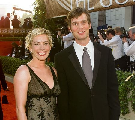 Peter Krause and Christine King at red carpet together.