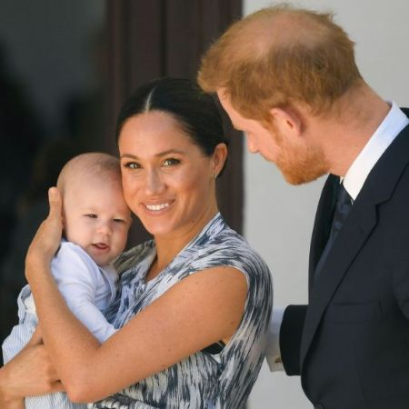 Prince harry and meghan with their son