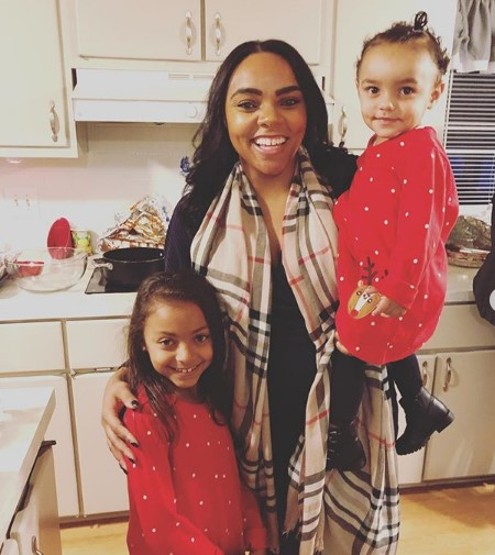 Shayanna Jenkins with her two daughters.
