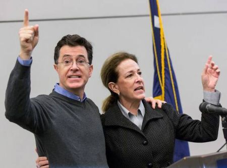 Stephen Colbert's popularity was useful during Elizabeth Colbert Busch's campaign in 2013.