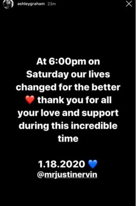 Ashley Graham Instagram post about new baby boy.