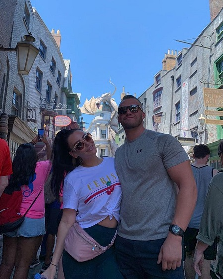 "Jenni ""JWoww"" Farley with Zack Clayton Carpinello during their trip to Florida, their first Instagram post as a couple."