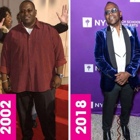 Randy Jackson's weight loss before and after (2002 vs 2018) photo comparison.