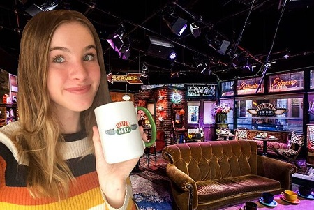Noelle Sheldon's photoshopped image inside the iconic coffeehouse from 'Friends'.