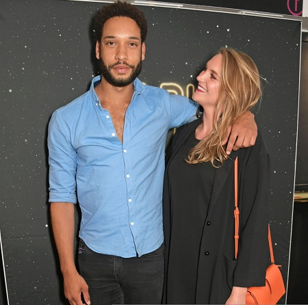 Pierreson and his girlfriend, Herron, at the press night performance of 'Dark Sublime'.
