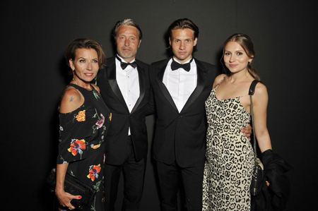 Mads Mikkelsen and Hanne Jacobsen are parents to their two kids.