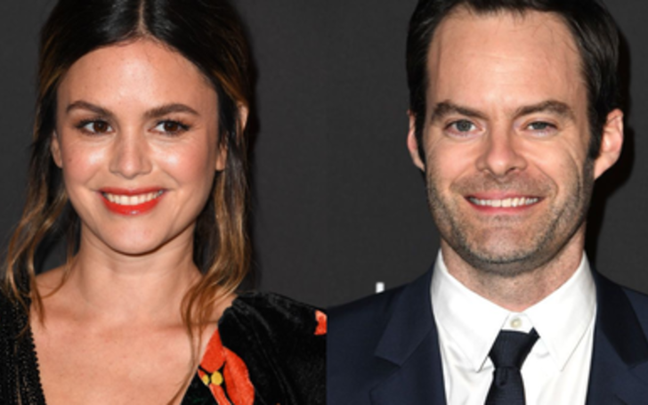Bill Hader and Rachel Bilson Makes their Relationship official at the Golden Globes Red Carpet