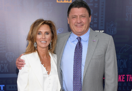 ed orgeron with his former wife kelly.