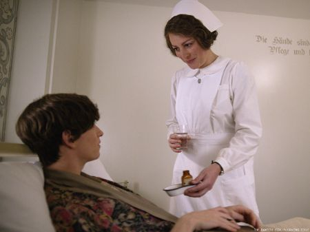 Rebecca Root caught on the camera while playing the role of nurse.
