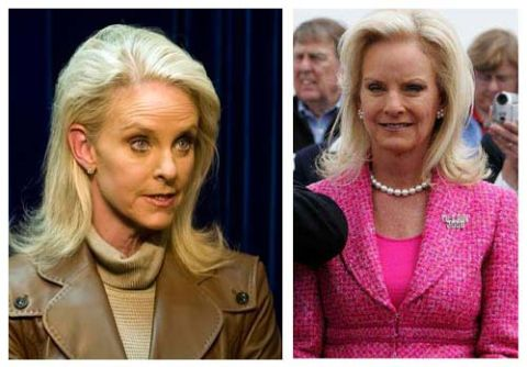 Cindy McCain's before and after plastic surgery picture.