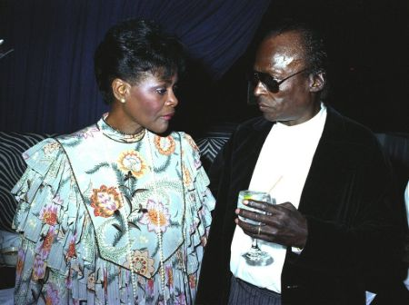 Cicely Tyson and her ex-husband Miles Davis together.