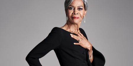 Cicely Tyson poses a picture in a photoshoot.