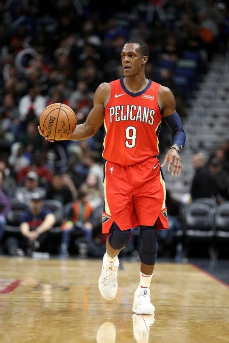 Rajon Rondo caught on the camera while playing.