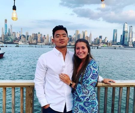 Younghoe Koo and Ava Maurer pose a picture.