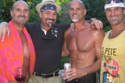 Jon Najarian poses a picture with his brothers.