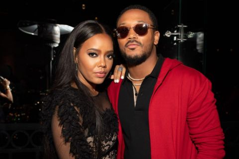 Romeo Miller poses a picture with former  partner Angela Simmons.