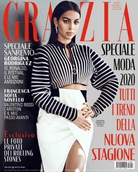 Georgina Rodriguez on the cover of 'Grazia' Magazine.