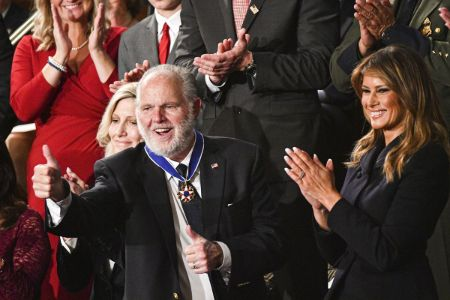 Rush Limbaugh received Presidential Medal of Freedom from Donald Trump.
