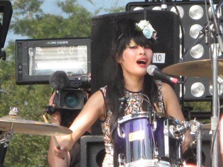 Akiko is a drummer and a lead vocalist