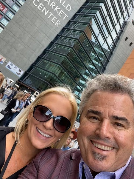 Christopher Knight clicking a selfie with his fourth wife, Cara Kokenes, in Las Vegas. Both smiling, with Kokenes wearing black glasses.