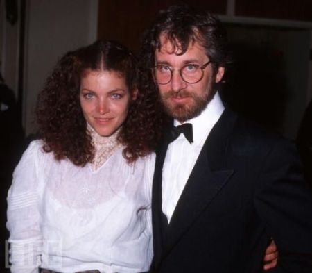 Spielberg with his former wife Amy during an award show.