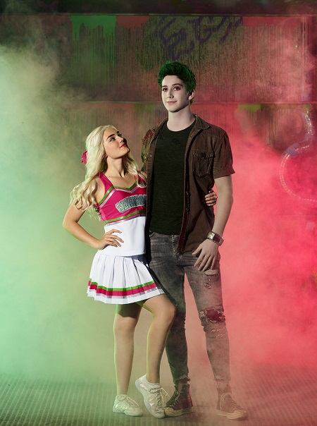 Meg Donnelly & Milo Manheim in their 'Zombies 2' costume and makeup.