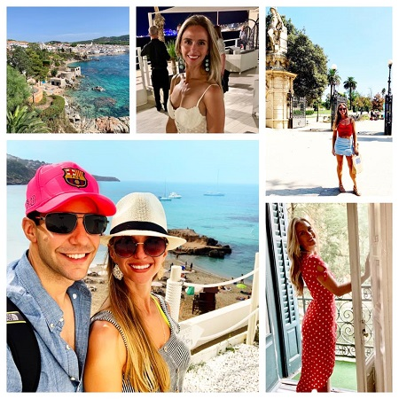 Kelly Ann Cicalese, with her husband, Edward Davila's collage of moments from their trip to Spain..