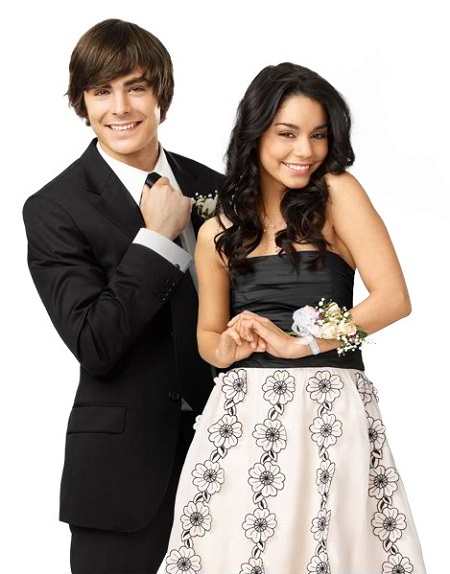 Zac Efron and Vanessa Hudgens for their poster of High School Musical 3.