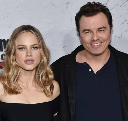Halston Sage Seth MacFarlane dated in 2019.