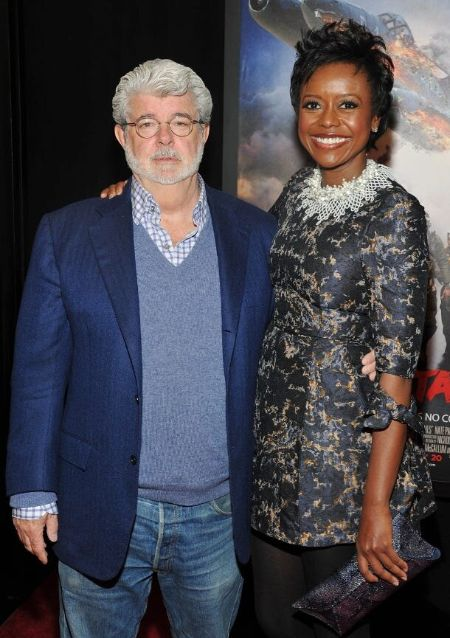 George Lucas and his second wife Mellody Hobson.