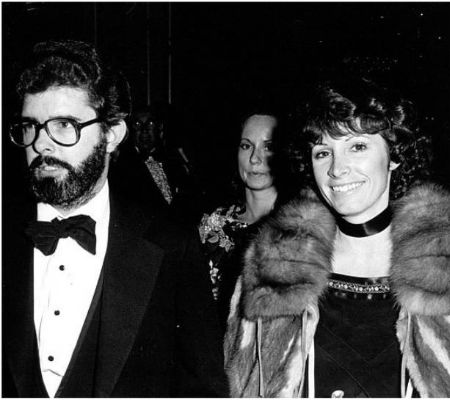 George Lucas and his first wife Marcia Lou Griffin.