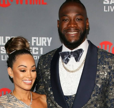 Deontay Wilder and his fiance, Telli Swift.