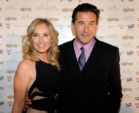 Chynna Phillips and husband William Baldwin at an event.