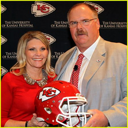 Andy Reid with wife Tammy