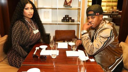 Nicki Minaj and her current spouse Kenneth Petty.