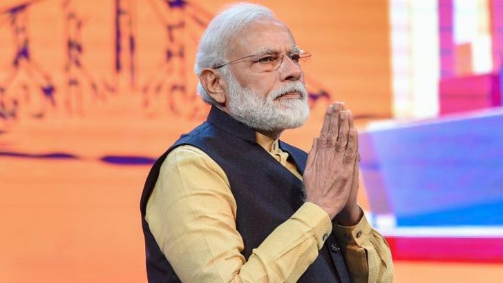 Indian PM Narendra Modi urges people to adopt Namaste.