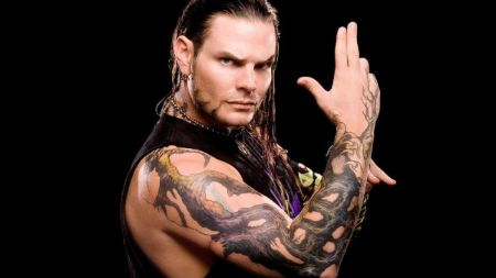 Jeff Hardy's roots tattoo on his right arm.