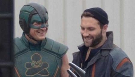 Nathan Fillion in all green suit at the set of 'The Suicide Squad'.